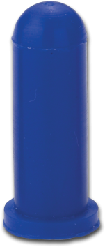 Blå silikonehætte med flange, SFC