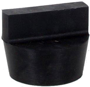 HP Masking - Hul prop i gummi med håndtag