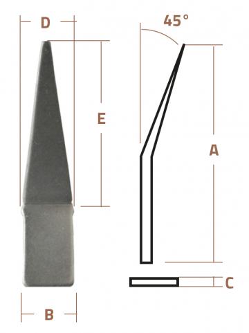 HP Masking - 45° Vinkel pilespids