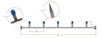 HP Masking - Tværstang med firkantrør, lille