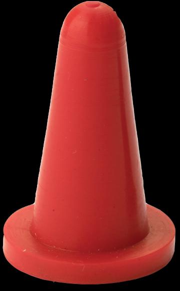HP Masking - Rød Konisk flangehætte, CONS