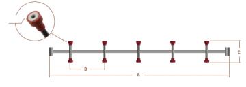 HP Masking - Magnetisk tværstang med designpatent