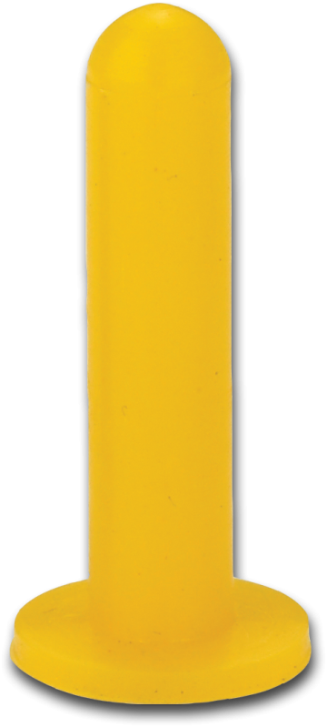 HP Masking - Gul silikonehætte med flange, SFC