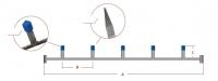 Tværstang med firkantrør, lille